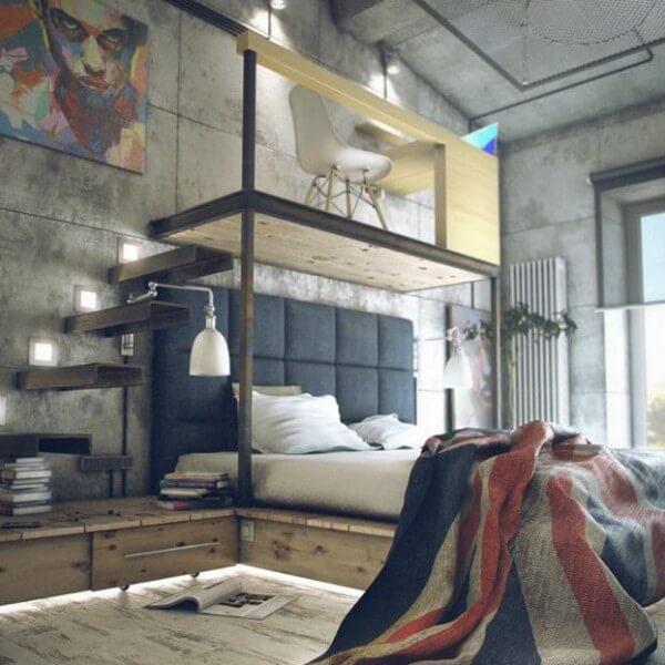 Apartamento pequeno com dormitório e escritório integrado