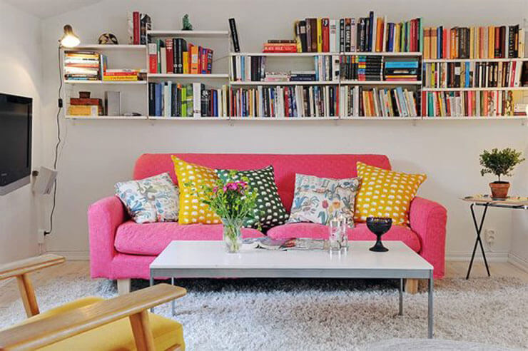 25 ideias de decora o de apartamentos pequenos for Sala de estar kawaii