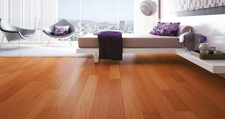 Piso laminado durafloor que imita madeira