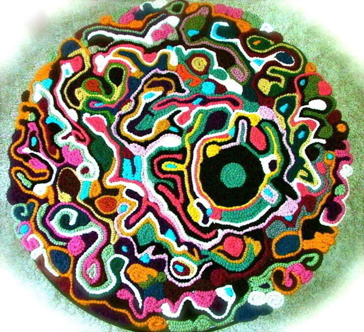 Tapete de crochet Colorido