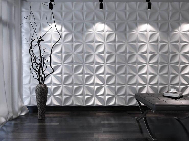 75 modelos de gesso 3d tipos modelos pre os como - Colocar piedra en pared ...