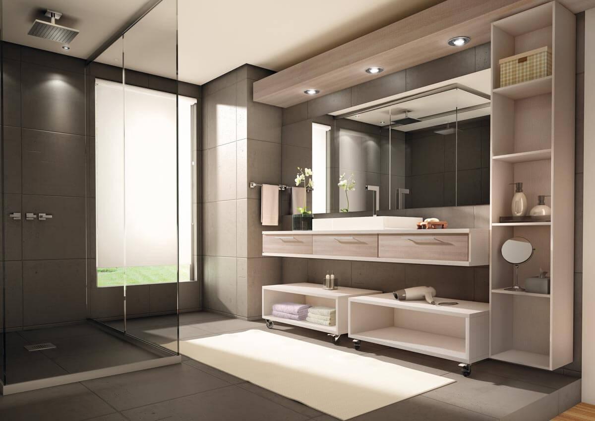 Projeto planejado decorado de lavabo
