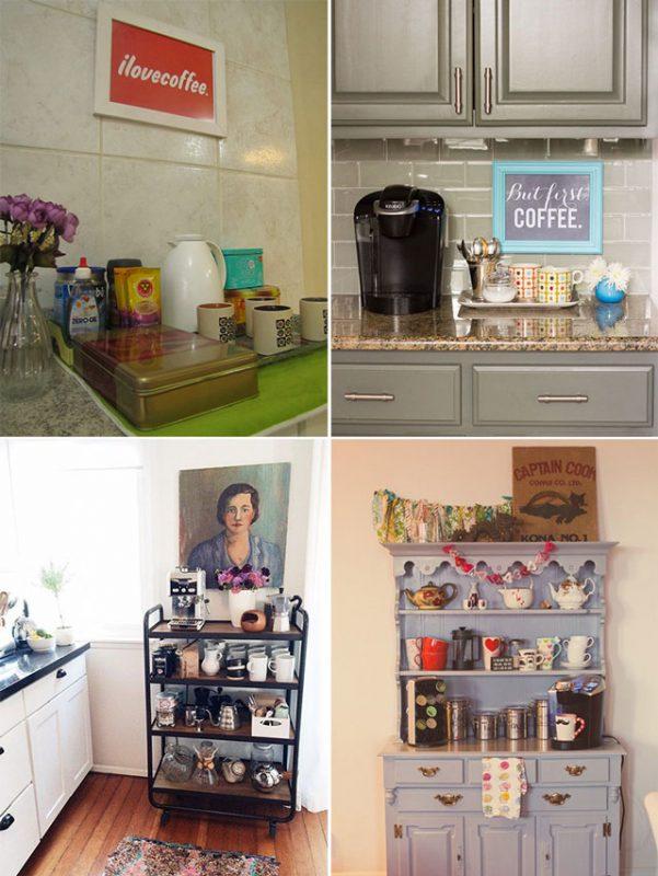 várias ideias de cafezinho decorado para o cafezinho
