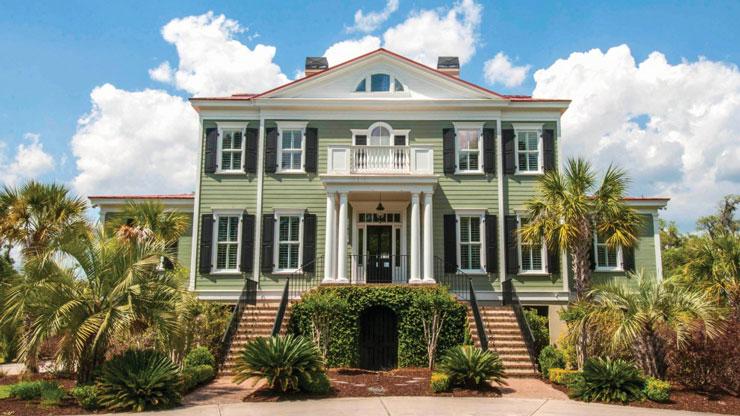Grande casa tradicional americana