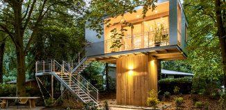 Casa Moderna na árvore