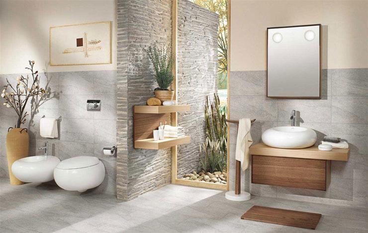 Decoração moderna para banheiro planejado