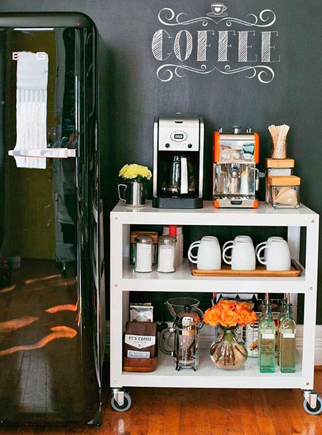 75 ideias de cantinho do caf decorado fotos e modelos for Modelos de mesas para cafeteria
