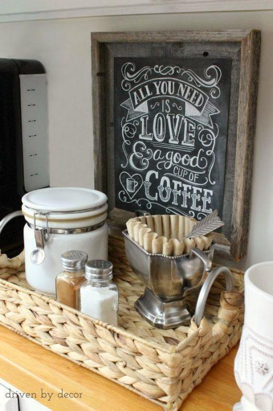 Cestinha para canto do café