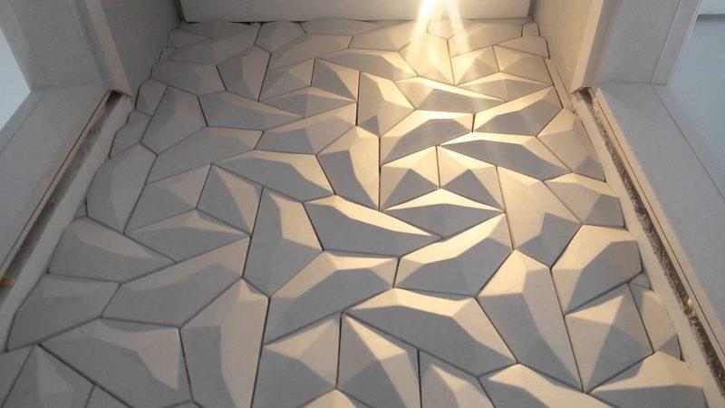 Placas de gesso em 3d geométricas