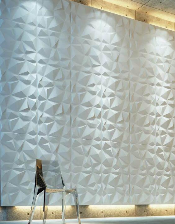 Decoração de parede residencial com base no revestimetno
