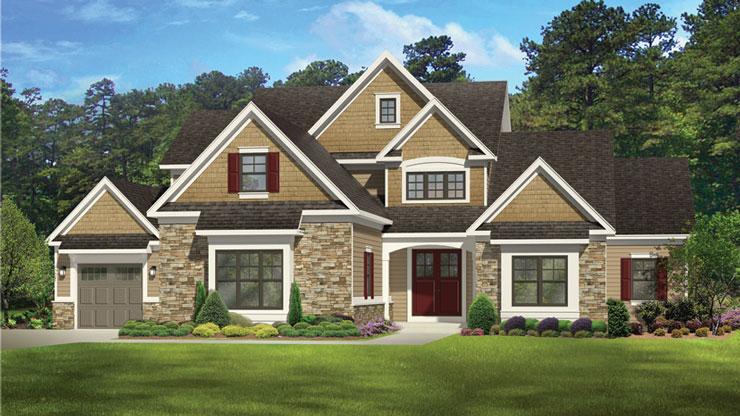 Projeto de casa americana para o interior