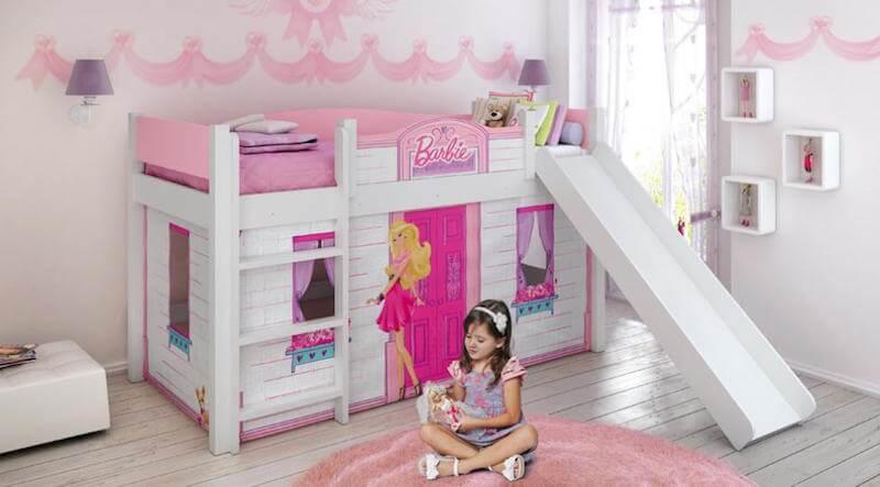 Cama temática para quarto da Barbie