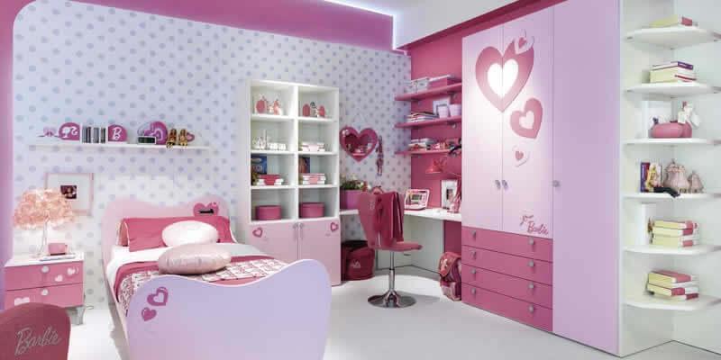 Decoração de quarto infantil da Barbie
