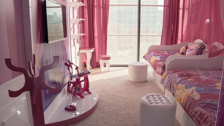 Decoração de quarto da Barbie