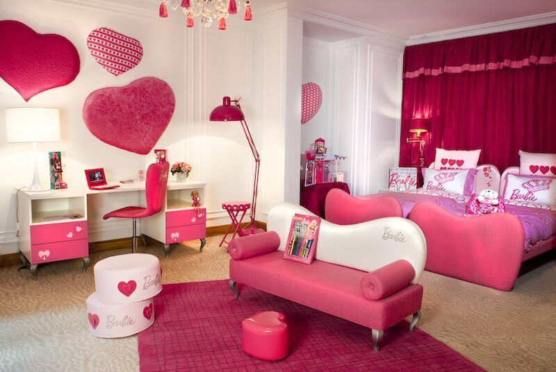 Quarto infantil decorado rosa