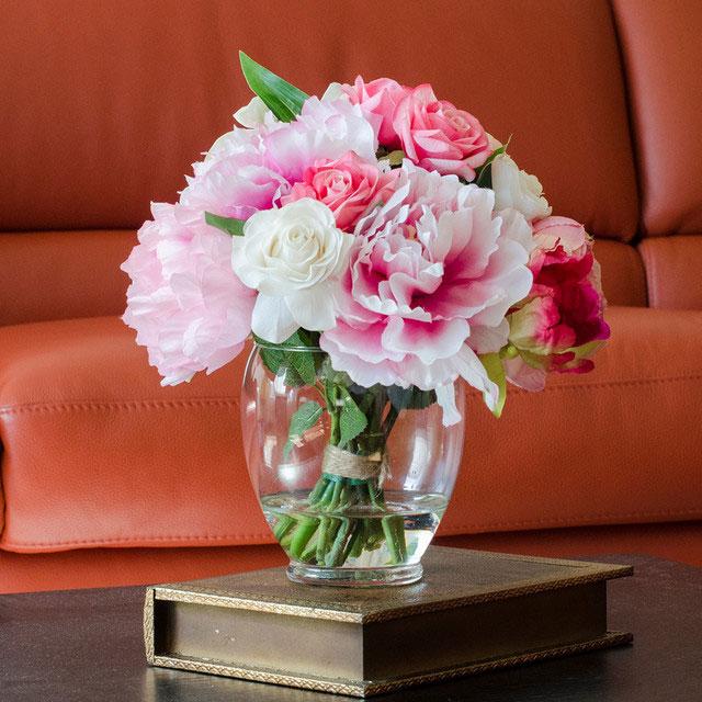 Arranjo decorativo de flores