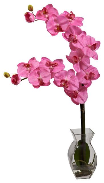 Arranjo de orquídeas artificiais