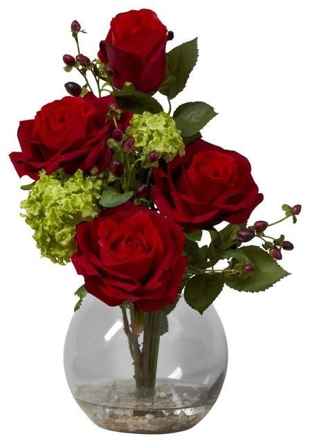 Rosas artificiais decorativas