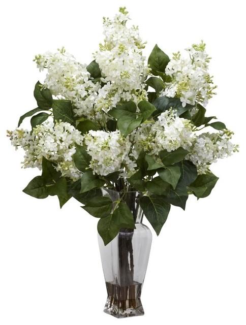 Flores tradicionais brancas para decoração artificial