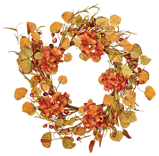 Guirlanda de flores de outono artificiais