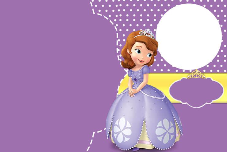 Princesa sofia convite de festinha