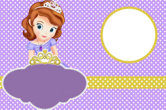 Convite para festa Princesa Sofia