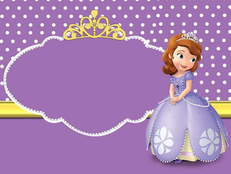 convite princesa sofia Lilás