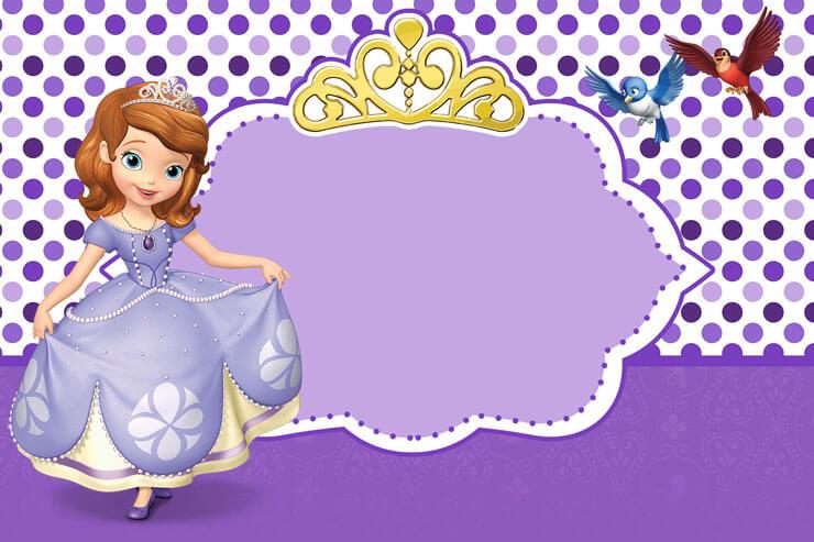 Convite princesa sofia enfeitado
