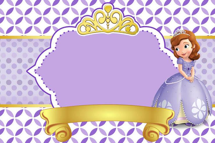 Convite princesa sofia decorado