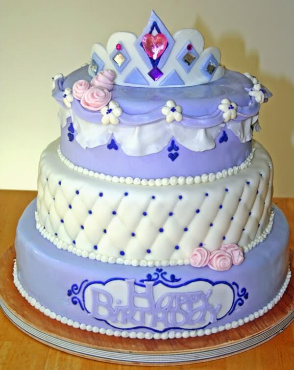 Bolo decorativo Princesa Sofia