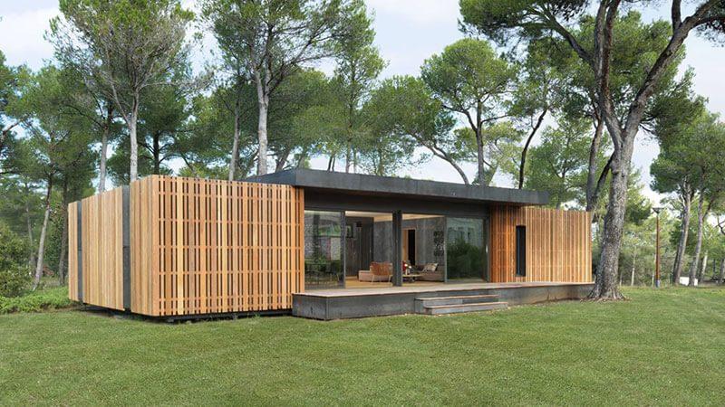 Casa pré-fabricada de Materiais Recicláveis