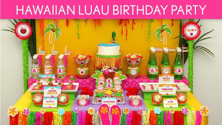 Decoração de festa infantil havaiana