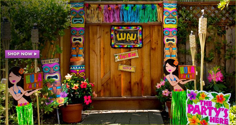 Decoração estilo Ula Ula para luau havaiano