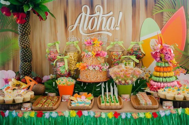 Decoração Havaiana aloha