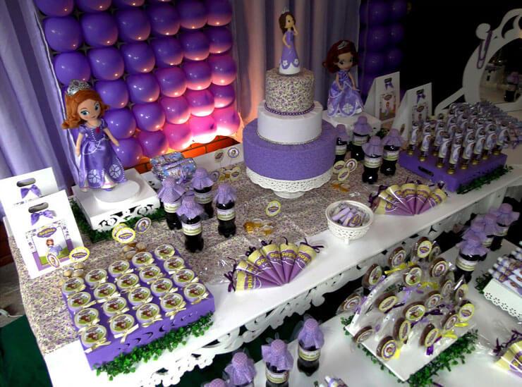 Festa de Aniversário decorada princesa Sofia