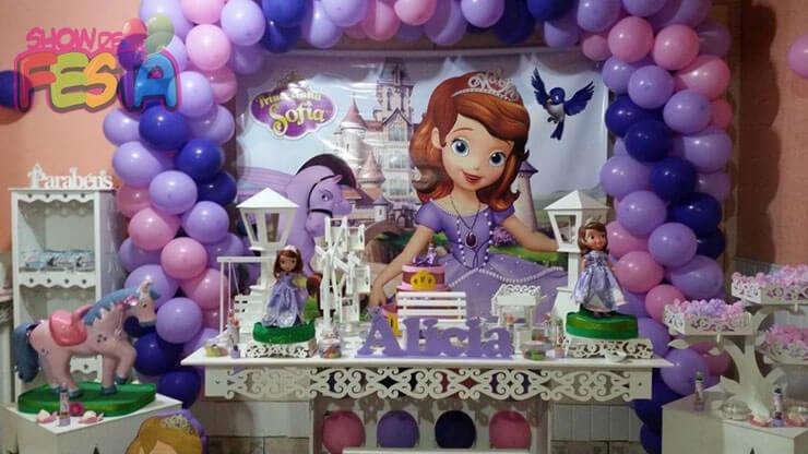 Decoração de festa Princesa Sofia