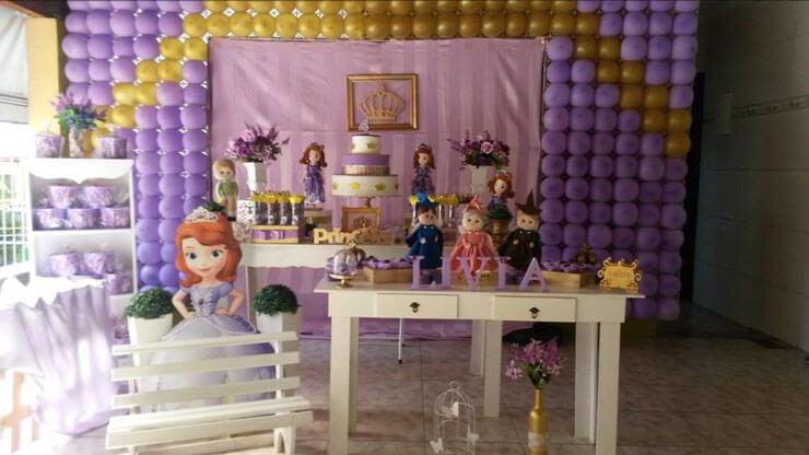 Decoração Princesa Sofia estilo Provençal