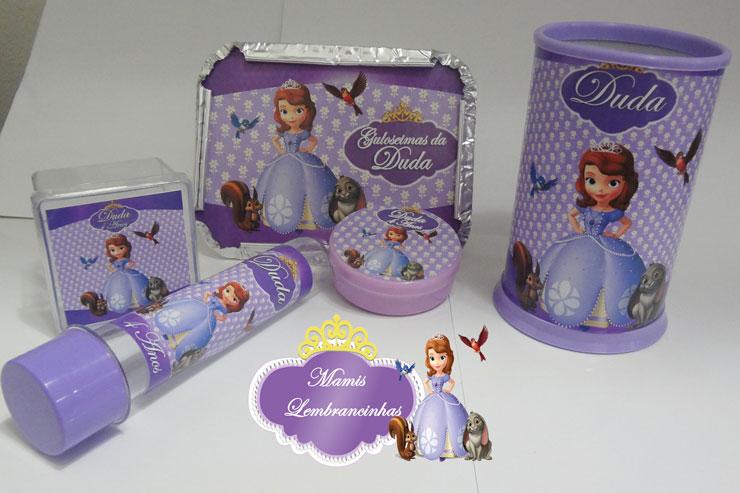 Kit de lembrancinhas da Princesa Sofia