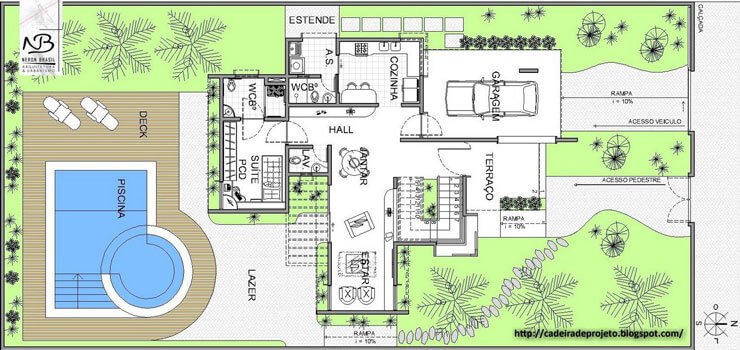 Plantas de casas 105 modelos projetos e fotos for Plantas para piscinas