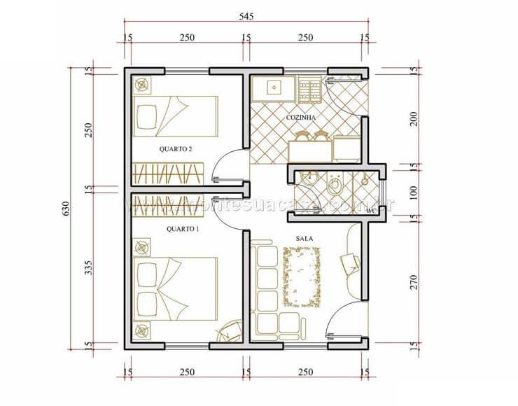 Fachada de casas pequenas e modernas – 25 lindas ideias