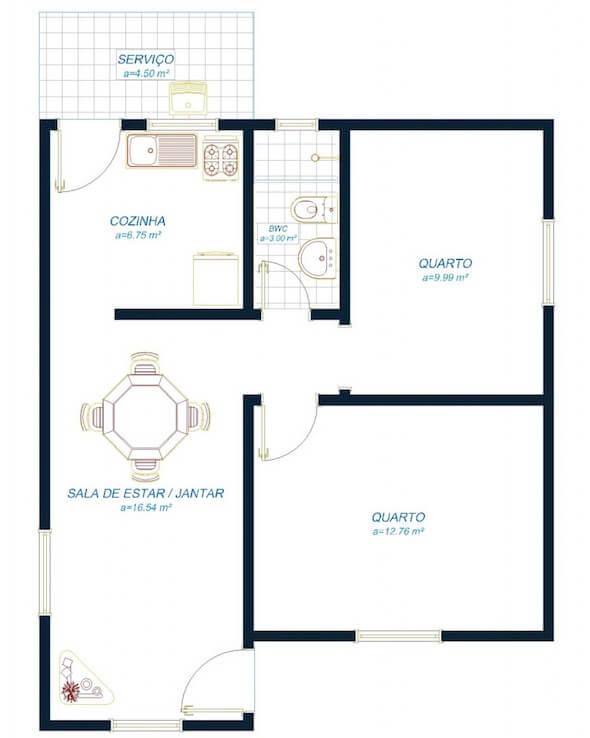 Projeto simples de casa simples