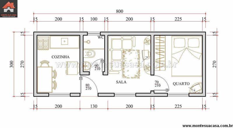 Ed cula 75 modelos plantas e projetos de ed culas for Modelos de departamentos pequenos para construir