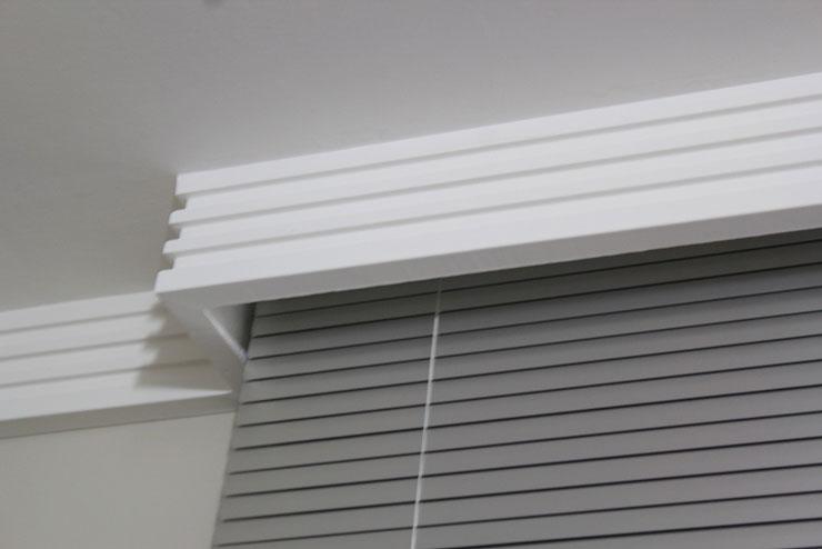 Sanca de Isopor com espaço para acabamento da cortina
