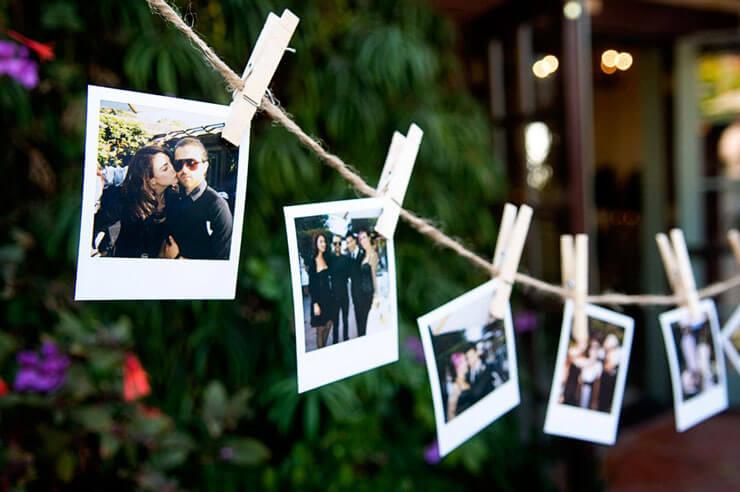 Varal de fotos para festas
