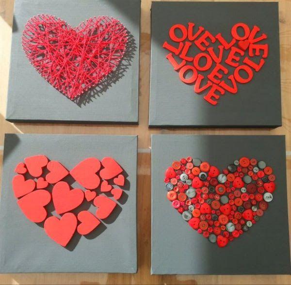 Quadro Artesanal de Coração