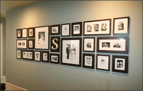 Fotos na Parede - Corredor