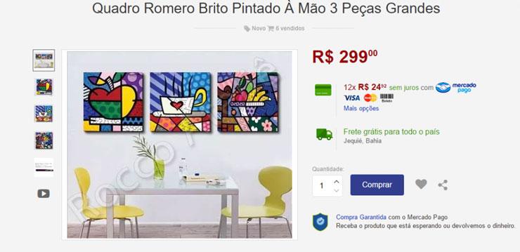 Preço de Quadro de Romero Britto