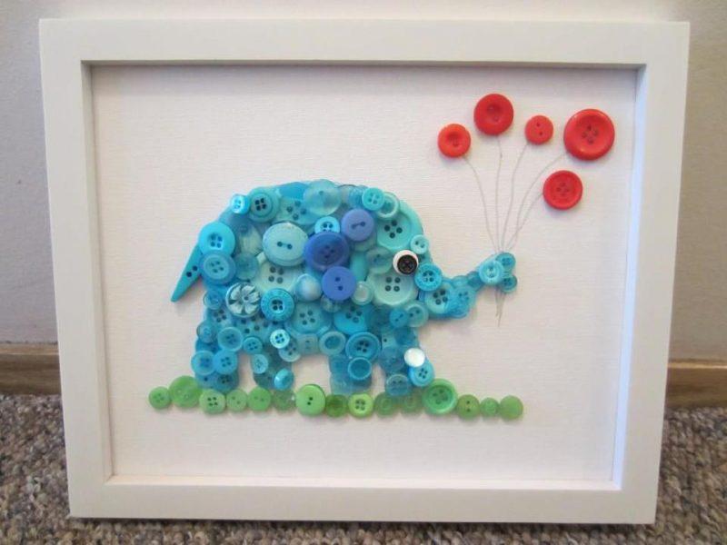 Quadro Infantil com Botões