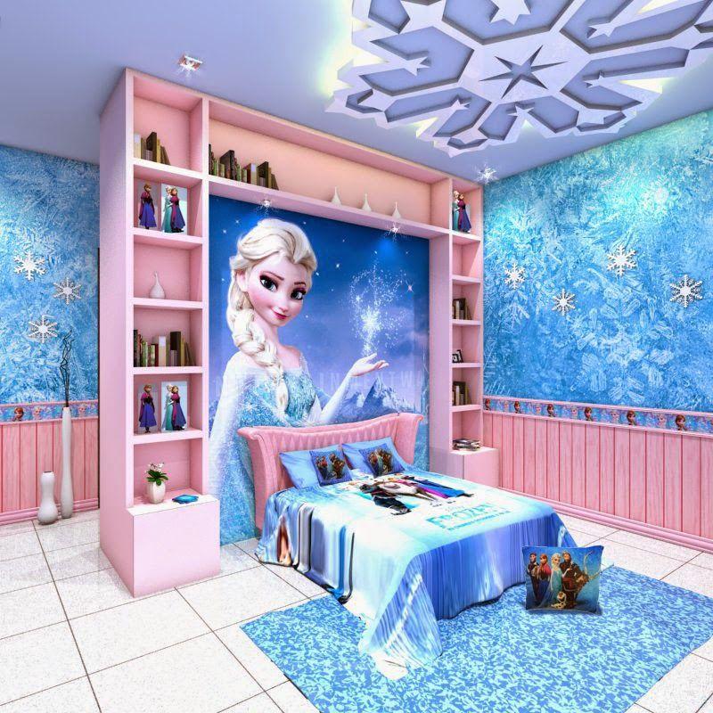 Decoração de Quarto da Elsa - Frozen