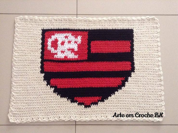 Tapete de Crochê do Flamengo